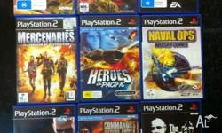 Playstation 2 games $10 each and playstation 3 games