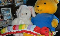 large teddy bear large rabbit alphabet catter piller A