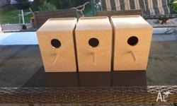 PLYWOOD BUDGIE NEST BOXES $12 EACH IDEAL FOR BREEDING