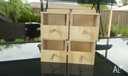 PLYWOOD FINCH NEST BOXES $4 EACH GOULDIAN FINCH NEST