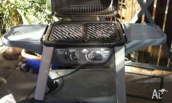 Two burner patio BBQ. Good condition needs a bit of a