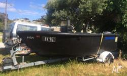 2009 Polly craft boat hydraulic 40 hp outboard