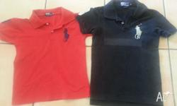 2 Polo shirts with horse on the left hand side of the
