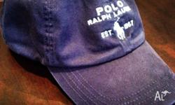 POLO RALPH LAUREN HAT , blue colour , vintage version ,