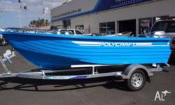 BRILLIANT TOUGH POLYCRAFT DINGHY WITH MASSES OF DECK