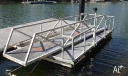 Pontoon - Cable Brace System - 6m x 3m - Second Hand,