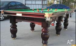 POOL TABLE SLATE BED 8FT COME WITH DVD INSTALL