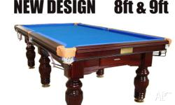 9FT SLATE SNOOKER TABLE COME WITH DVD INSTALL