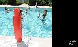 Wahu pool volleyball net and stand. 5.5 m long net.