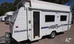 POP TOP CARAVAN Viscount Sportz Front Kitchen with