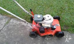 FOR SALE IS MY POPE FOUR STROKE LAWNMOWER SIDE CHUTE