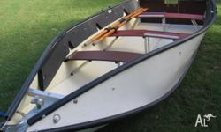 3.7 meter Porta boat, comes with 4HP Mercury Motor,