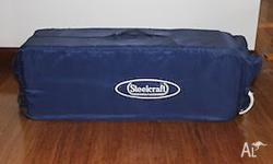Steelcraft porta cot. Great condition, barely used.