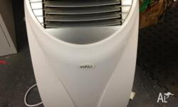 White portable air conditioner works excellent comes