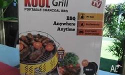 Portable charcoal BBQ as seen on tv. Brand new in box