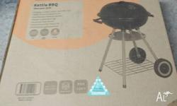 Portable charcoal grill BBQ never used one bag fuel for