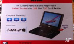 This portable dvd player with large 10inch/ 25cm
