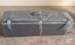 Sturdy travel cot with base. Only used a handful of