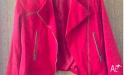 Portmans Red Jacket Size: 14 in Great Condition Postage