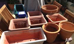 I have 13 different pots some plastic, some terracotta