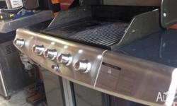 UP FOR SALE LARGE BARBEQUES 4 BURNER AND SIDE BURNER