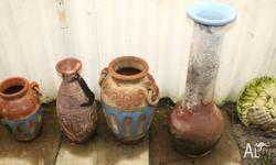 4 pots and fountain thingo .they all look good and are