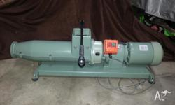 "this is a venco 3"" pugmill for processing of pottery"