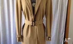 PRADA Beige Trench coat Size 10 REDUCED TO $200.00