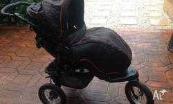 Great used condition Beema Q Pram with wind cover able