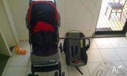 pram/stroller with matching carrier , SKEP brand.Very