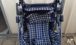 "Pram (baby carriage) ""Love and Care Design"" blue single"