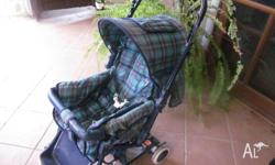 Baby World pram with reversible handle and waterproof