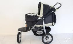 Beema by Swallow baby Carriage. 3 wheeler with swivel