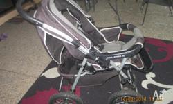 CHILDCARE PRAM. In a good condition, front and rear