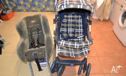 Used in good condition pram plus child capsule which