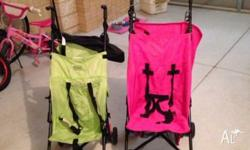 Two prams great condition one green a done pink $10.00