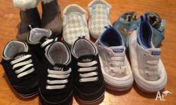 6 pairs of pre walker size 2 shoes. good condition