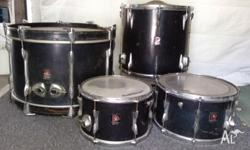 "Premier Drums from 1968 well used 1x 12"" 1x14"" bass,"