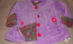 Preowned Pumpkin Patch Purple Velour feel Lined Jacket