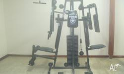 Up for sale is a fantastic complete home gym. 1. York