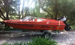 Up for sale is my Pride Cheetah 15ft ski boat with a