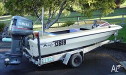 15 foot pride runabout, 200hp Yamaha V6 oil injected