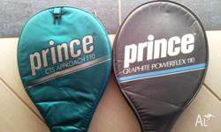 2 Tennis Racquets - Prince Graphite Powerflex110,