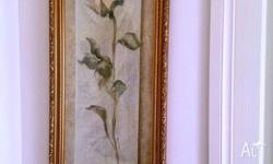 Relocation Sale - 2 X Rose Print in gold frame,