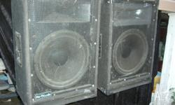 "2 x 15"" Pro Studio speakers in good working order"