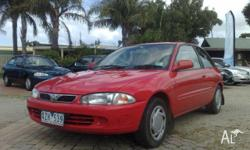 PROTON,SATRIA,2001, FWD, red, grey trim, 3D HATCHBACK,