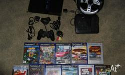 For sale here is a nice PS2 Bundle Included is PS2