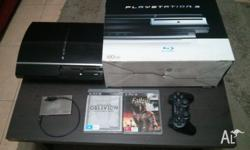 Sony Playstation 3 with Original Box and Manuals This