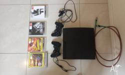 PS3 bundle comes with 4 games 2 controllers and a hdmi