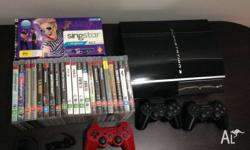 Playstation 3 console with 1TB hard drive; good